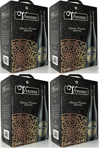 4 x VEROSSO SALENTO PRIMITIVO Bag in Box 3L