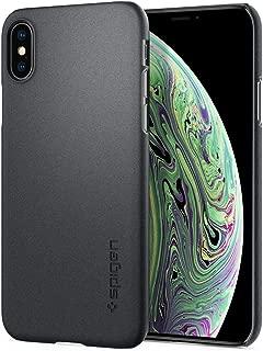 【Spigen】 スマホケース iPhone XS ケース/iPhone X ケース 5.8インチ 対応 レンズ保護 超薄型 超軽量 シン・フィット 063CS24905 (グラファイト・グレー)