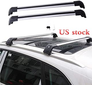 MotorFansClub Roof Rack Cargo Bars Baggage Top Roof Rail Crossbars Luggage Ladder Bike Load Roof for Hyundai Santa Fe 2013 2014 2015 2016 2017 2018 US Stock