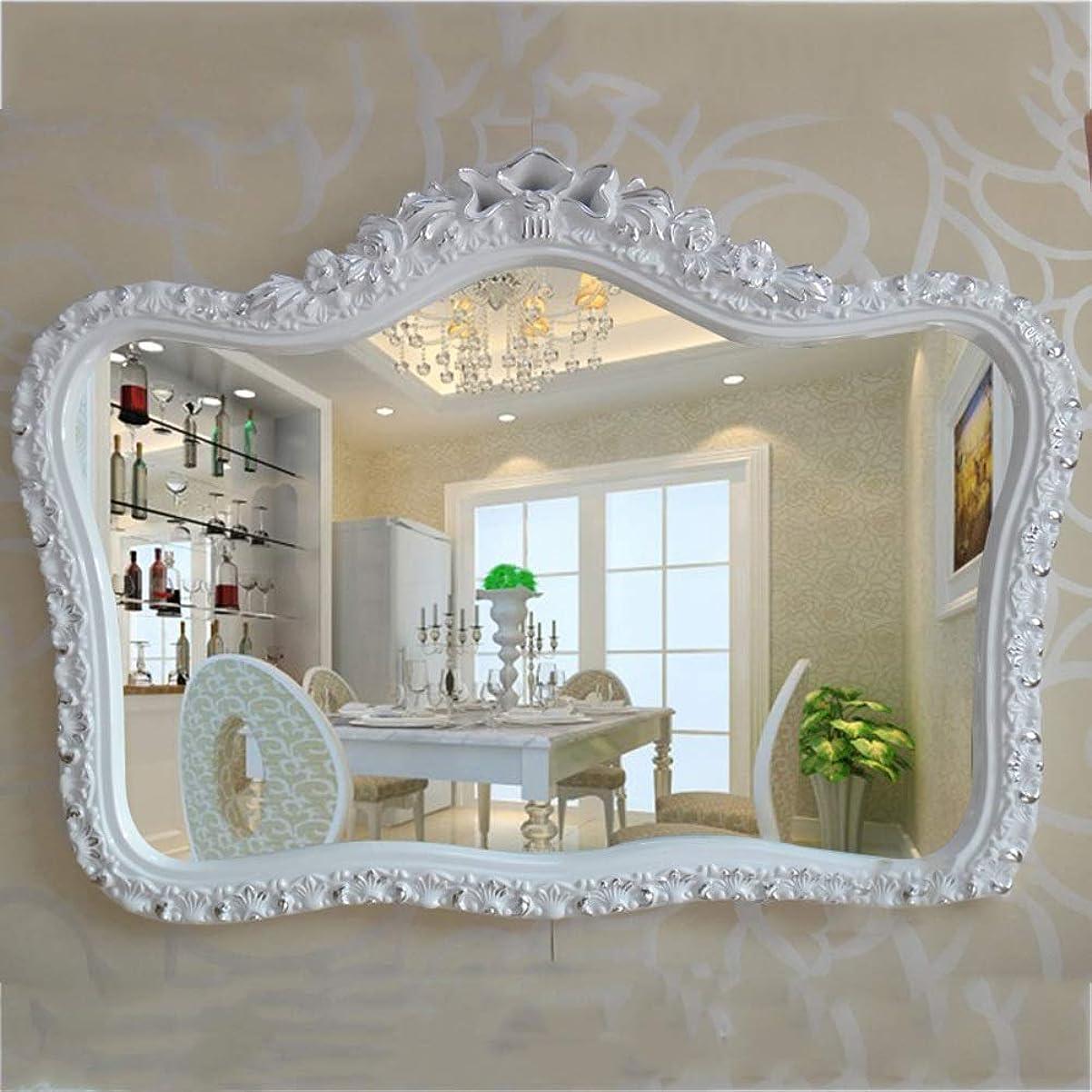 濃度鳴り響くとんでもない壁に取り付けられた鏡の装飾レトロなドレッシングミラーホームリビングルームの寝室の浴室の装飾ミラー-626(色:B)