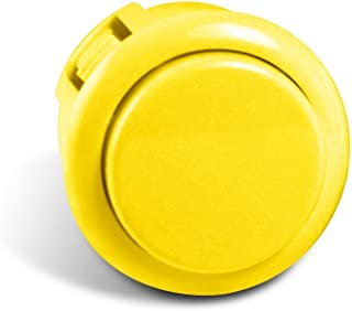 Sanwa Silent 30mm Replacement Arcade Push Button for Mad Catz Fight Sticks - Silent Yellow 1pc