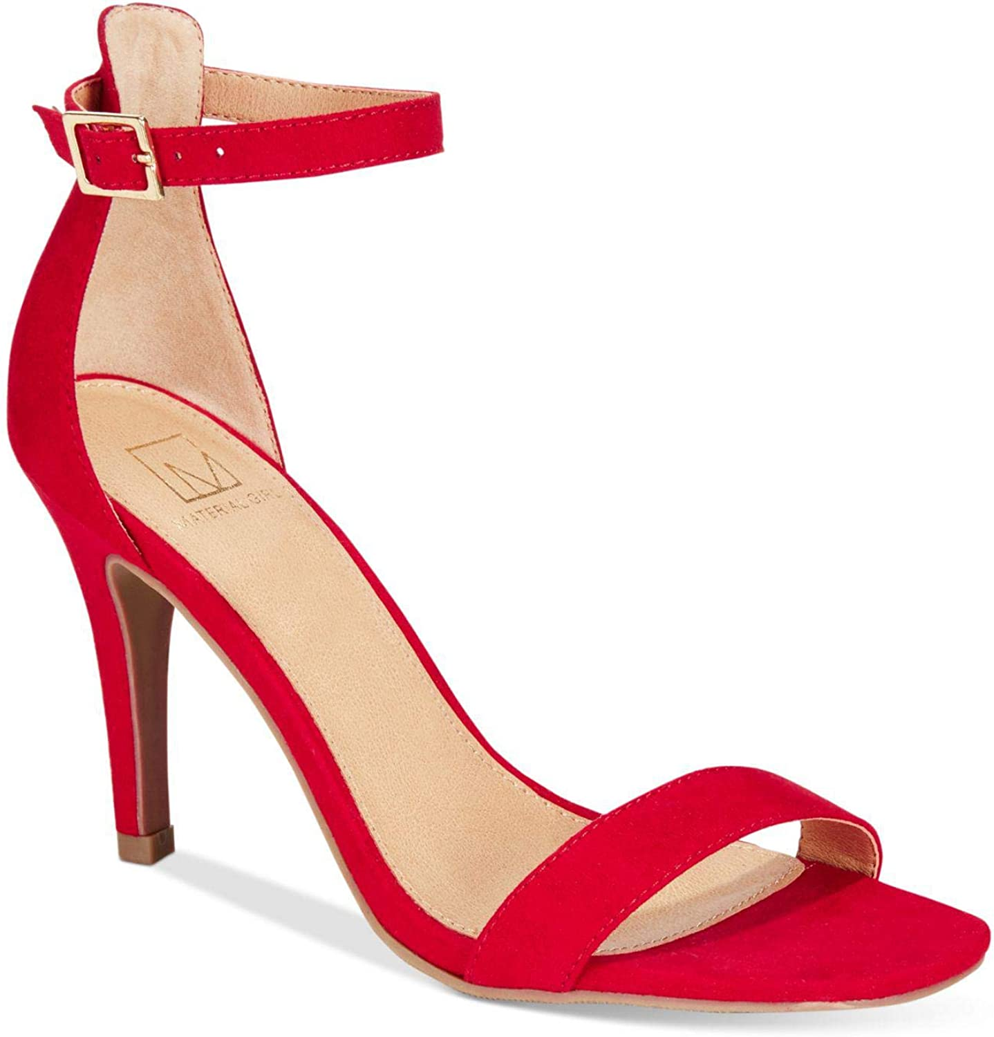 Material Girl Womens Blaire Two-Piece Dress Sandals (6.5M, Red)
