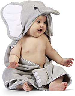 Bearington Baby Lil' Spout Elephant Hooded Bath Towel, 24
