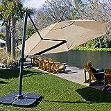 Coolaroo Cantilever Umbrella, Freestanding Patio Shade Umbrella, 90% UV Block, Round 12', Smoke