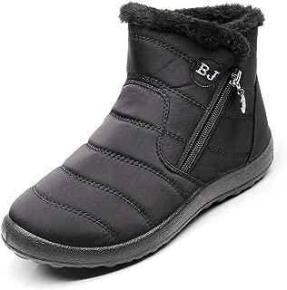 Women Boots Snow Plush Fur Warm Waterproof Flat Casual Shoes Winter Bootie