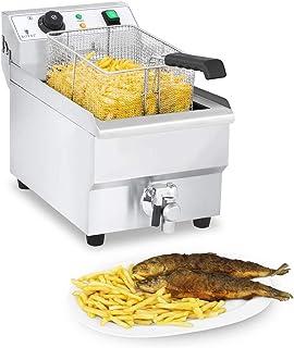 Royal Catering Friteuse Électrique Friteuse Professionnelle RCEF 10EH-1 (3 000 W, 10 L Au Total / 9 L D'Huile, Thermostat,...