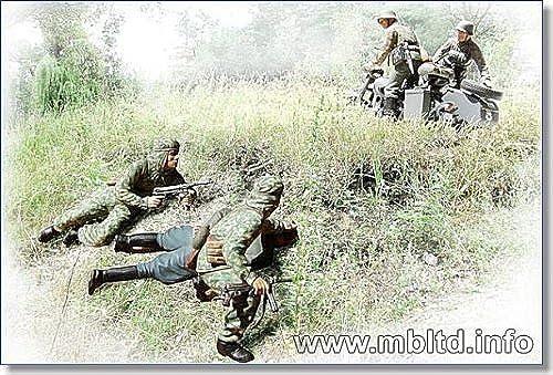 1 35 Deutschland und der Sowjetunion und der Begegnung Szene funf Leichen MB3572