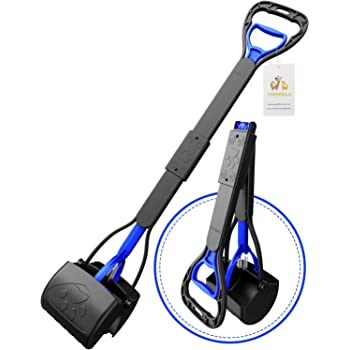 """TIMINGILA 33"""" Long Handle Portable Pet Pooper Scooper for Large and Small Dogs,High Strength Material and Durable Spring,Great for Lawns, Grass, Dirt, Gravel"""
