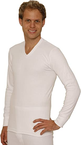OCTAVE® Mens Thermal Vest Warm Underwear Long Sleeve T-Shirt Tops Baselayer