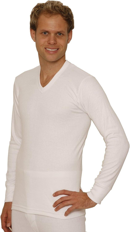 Octave 3 Pack Mens Thermal Underwear Long Sleeve 'V'-Neck T-Shirt/Vest/Top
