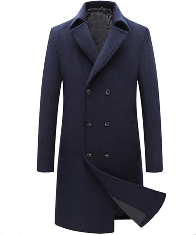 Men Winter Wool Coat Men's Double Breasted Business Jacket Wool Blends Woolen Coat Male Trench Coat Overcoat