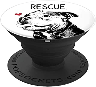 Rescue Pitbull Dog Cute Blue Nose Dog Owner Mom Gift PopSockets Grip and Stand for Phones and Tablets