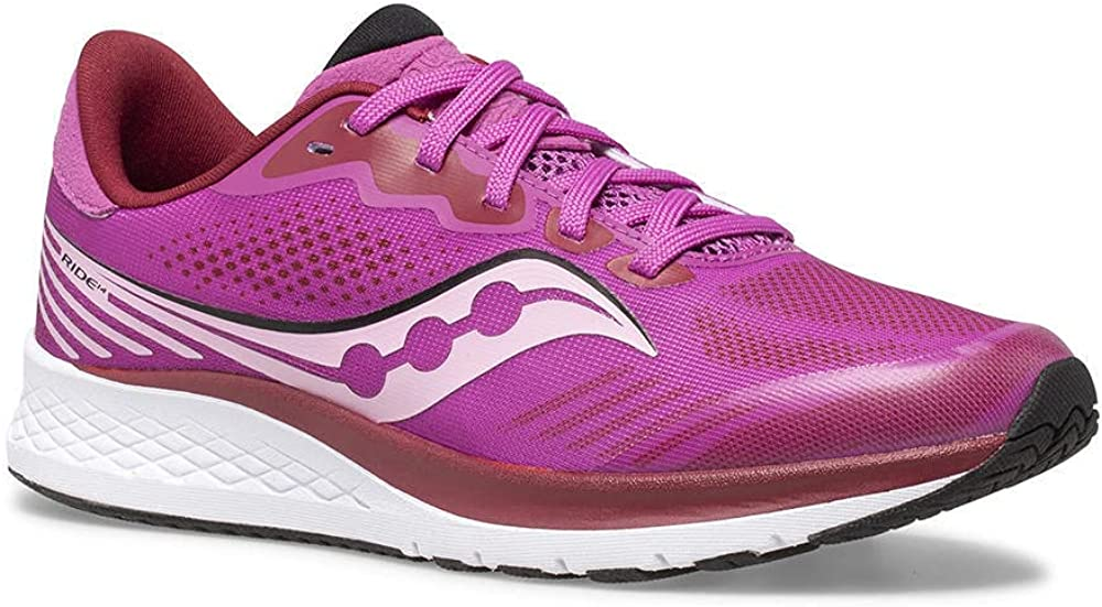 Saucony Ride 14 Running Shoe Pink US Big 2021 spring and summer new Unisex 6 Max 46% OFF Kid