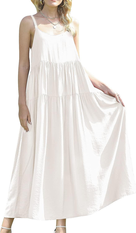 Beaurex Limited price sale Women's Cotton Boston Mall Floral Print Maxi Strap Dresses Spaghetti