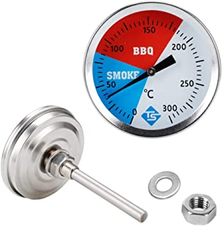 Meiyiu Smoker Grill Thermometer BBQ Stainless Steel Temperature Gauge Barbecue Heat Indicator for Lamb Beef Meat Cooking, ...