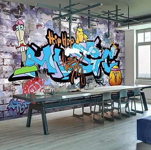 Fotomural Vinilo Para Pared Infantil Arte de graffiti hip hop callejero 300x210cm Fondo de La Habitación de Los Niños Muro Profesional Fabricación de Murales Poster Photo Wall 3D Fotomurales