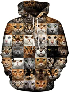 Men's 3D Cat Print T-Shirt Short Sleeve Tops Tee Sweatshirt