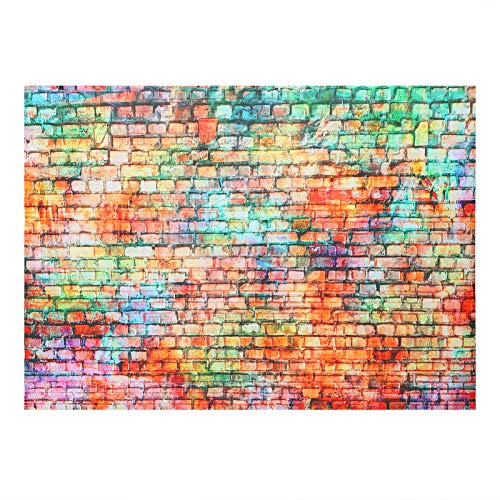 SOLUSTRE Colorful Brick Wall Photo Backdrop Baby Birthday Wedding Party Photography Background Decorations Banner Portrait Studio Photo Booth