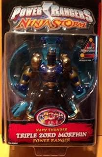 Power Rangers Ninja Storm Navy Thunder Triple Zord Morphin' Power Ranger Action Figure