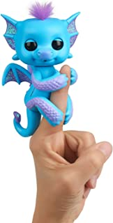 WowWee Fingerlings - Glitter Dragon - Tara (Blue with Purple) - Interactive Baby Collectible Pet - by , Null