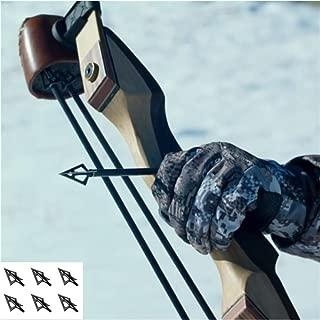 DarkForest DB-4 Great Penetration Fixed Blade Broadheads for Hunting Sharp Arrowhead 100 Grain, 6-Pack