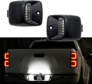 2x LED License Plate Light Lamp Assembly Replacement For Toyota Tacoma 2005 to 2015, Tundra 2000 to 2013