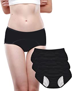 Leak Proof Protective Panties for Women/Girl Menstrual Period,Heavy Flow,Postpartum Bleeding,Urinary Incontinence (3-5)