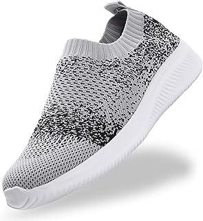 Gaatpot Chaussure de Course pour Femme Sneaker Sport Air Respirant Mesh Chaussette Baskets de Running Fitness Mocassins Es...
