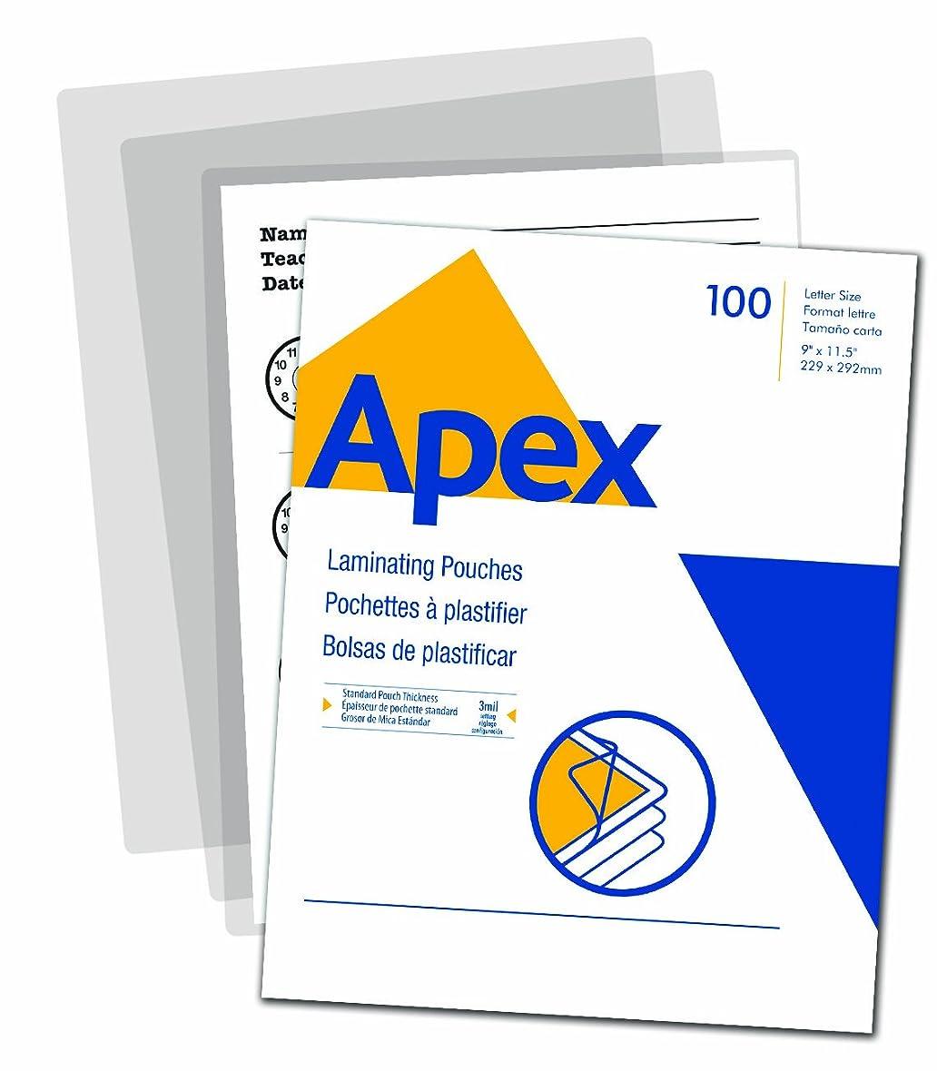 扱いやすい害虫作家Apex Standard Laminating Pouches, Letter Size for 3 Mil Setting, (5242601) by Apex