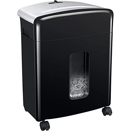Bonsaii 10 Sheet Micro Cut Paper Shredder,Heavy Duty Paper Shredders for Home Office Use,Shredder Machine with 13 L Pullout Bin&4 Removable Universal Wheels, P-4 High Security Level (C220-B)
