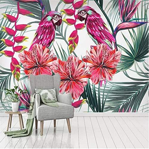 Pbbzl Bloemen Planten Tropische Regen Bos Achtergrond Muur Fabriek Groothandel Wallpaper Mural Aangepaste foto Muur 120x100cm