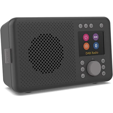 Pure ELAN CONNECT All-In-One Internet Radio with DAB and Bluetooth 4.2 (DAB/DAB+ Digital Radio, FM Radio, Internet Radio, TFT Display, 20 Presets, Battery Usage), Charcoal