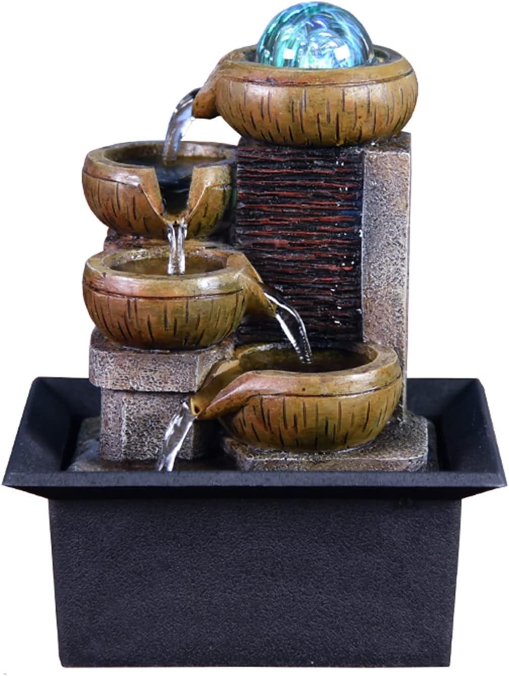 low-pricing MIAOQINQIN Ranking TOP10 Desktop Fountain Tabletop Indoor T Waterfall
