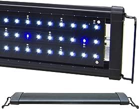 BeamsWork EA White Blue LED Aquarium Fish Tank Light Extendable Timer Ready