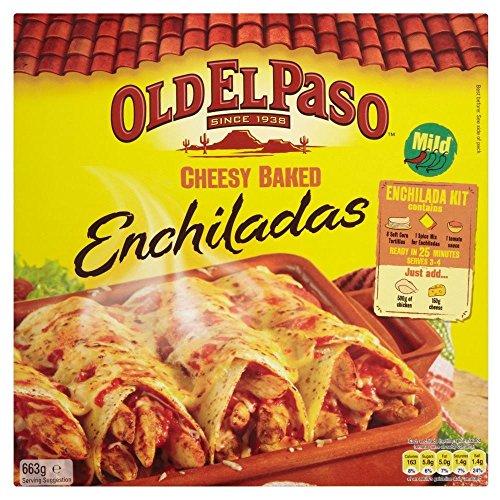 Old El Paso Cheesy Baked Enchilada Kit (663g) - Packung mit 6