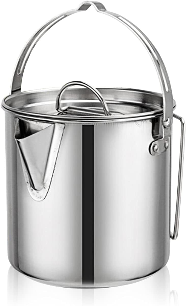Evaliana 1.2L Stainless Steel Camping Outlet SALE Teakettles Outdoor Picnic Max 86% OFF