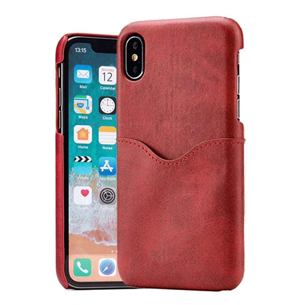 Europe and The United States iPhone Series Mobile Phone Shell Solid Color Back Cover Multi-Function Unisex (Color : Red, Size : iPhone 7/8)