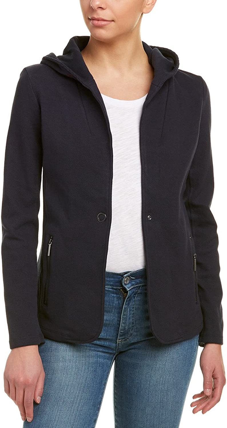 Kenneth Cole New York Womens Pebble Knit Hooded Blazer Blazer