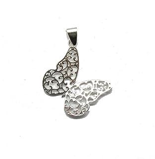 Ciondolo in argento massiccio 925 farfalla in filigrana PE001321