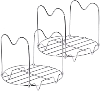 Steamer Rack, Steam Rack for Pot, 2 Pack AIEVE Instant Pot Steam Rack Stainless Steel Canning Rack Steamer Rack for Pressure Cooker Steamer Rack Trivet with Handles