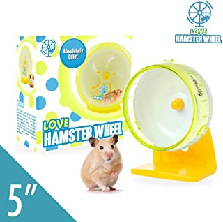 """Robo Hamster Wheel 5"""" Pet Quiet Spinner Comfort Exercise Quiet Wheel and Easy Attach to Wire Cage for Small Pets 2 Oz Dwarf Hamsters Gerbils Hedgehogs Mice - Premium PP Material"""