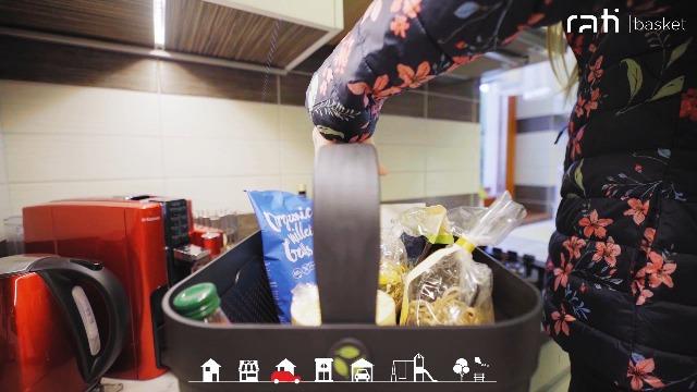 Rati Basket Smarter Auto Korb Zum Einkauf Outdoor Aktivitäten Mit Befestigungsadapter Zum Kofferraum Rutschfest Und Stabil Während Der Fahrt I Schwarz Aus 94 Recycling Material Küche Haushalt