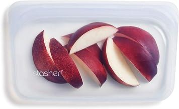 Stasher Reusable Silicone Food Bag, Snack Bag, Clear