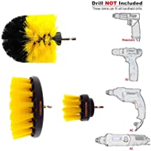 Cheston 3 Pcs Electric Drill Brush Power Scrub for Floor, Bathroom, Tile, Car, Grout, Kitchen and Other Cleaning (ONLY Brush Set)