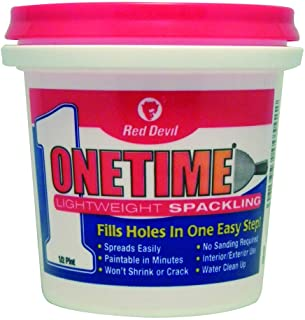 Red Devil 0542 ONETIME Lightweight Spackling, 1/2 Pint, Pack of 1, White
