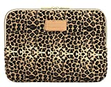 Kayond KY-03 Canvas Fabric 14.1 Inch Laptops Sleeve - Brown Leopard Print