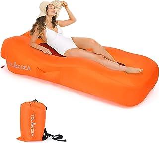 Tolaccea - Sofá hinchable impermeable con bolsa de transporte, ideal para camping, playa, exterior