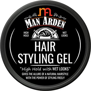 Man Arden Hair Styling Gel - High Hold with Wet Looks, 50g
