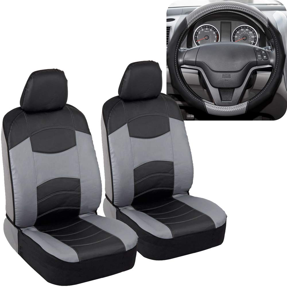 Accent Car Seat Covers /& Steering Wheel Cover Polyester Comfort Cloth Simply Covered Beige