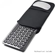 Wanty Neoprene Carrying Case Cover Protector Sleeve Skins Pouch Bags for Apple Wireless Bluetooth Keyboard MC184LL/B MC184CH and MLA22LL/A and Logitech Easy-Switch K810 / K811